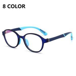 Crianças Anti Blue Ray Glasses Computador Video Gaming Goggles Flexible Silicone Quadro Óculos Kids Blue Light Bloqueando óculos