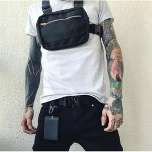 Маленький хип-хоп уличная одежда жилет военный сундук для мужчин Функциональная талия пакеты регулируемые карманы мода мода бурона T200521