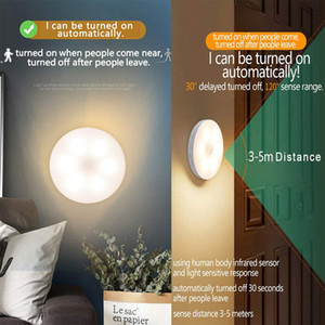 Bedroom Night Lights Motion Sensor Night Lamp USB Charging Bedroom Decoration Led Night Light Cabinet induction lamp Children's Gift