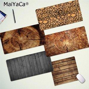 Maiyaca cool neues braunes holzkorn DIY Design Muster Spiel Mousepad Freies Verschiffen große Mauspad-Tastaturen MAT1