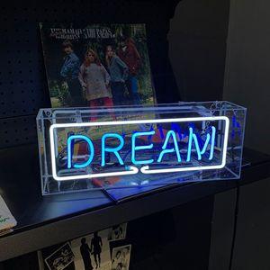 Acrylglas LED-Licht Box für Weihnachtsfest-Feiertags-Dekoration kreative Lampe Startseite Raum-Dekor-Bar Neon Sign Individuell