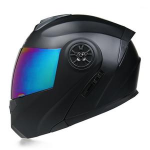 Moto Casco Capacete Casque Motosiklet Kask Flip Up Motosiklet Kask Çift Lens Modüler Motocross Tam Face1