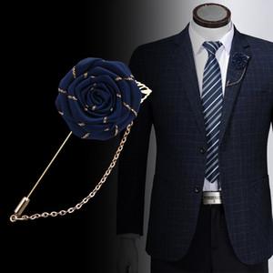 Винтажная смешанная ткань розовые броши кисточкой цепь мужчины костюм воротник брошь брош отворотный штифт броши для женщин ювелирные аксессуары