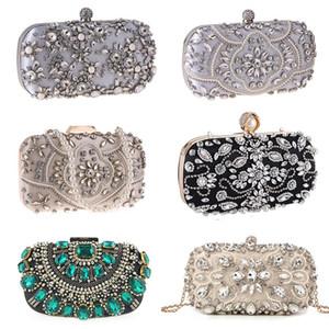 Вечерние сумки Женская сумка для сцепления партии для вечеринки роскошная свадьба для свадебных изысканных хрустальных женская сумка абрикосовый серебряный кошелек