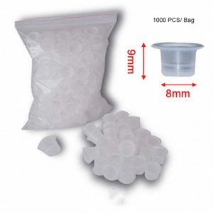 1000 Pcs Bag Small Size 8mm Plastic Tattoo Ink Cap Cup Supply 2016 Pofesstional Tattoo Accessories Free Shipping dWMk#