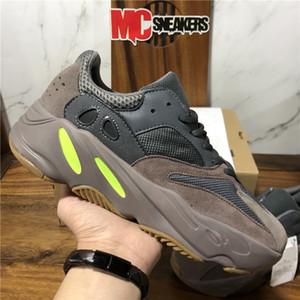 Высокое качество Kanye West кроссовки 700 Wave Runner Инерция Светоотражающие Тефра Solid Gray Utility Черный Vanta Мужчины Женщины Спорт кроссовки с