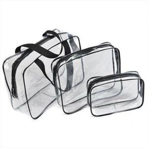 Cosmetic Bags Local Travel 1Pcs PVC Transparent Makeup Clear L Plastic M Bag Stock S Toiletry Cosmetic Zip Wifva