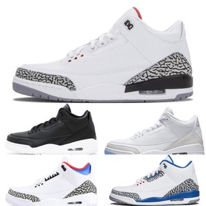 Cimento OG Shoes Pure Men Preto 3 Cat Basketball 3s Branco True Blue Tinker Verde Katrina UNC Mens instrutor Moda Sports SneakersQWQAQWQAQWQA