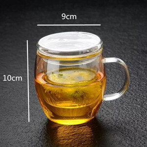 Glass Round Bubble Tea Filter Office Cup Water Thickened Flower Three Piece With Fun Fsile jllPZw mxyard