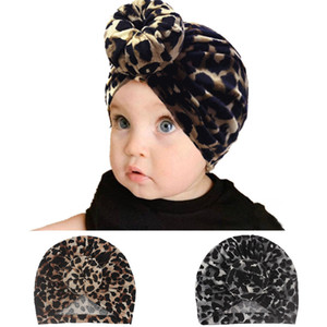 Baby girl hair hat children leopard print Elastic Donut Baby Turban Hat toddlers headband Indian cap infant headwear girl hair accessories