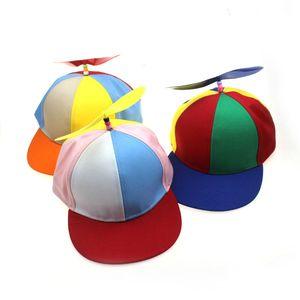 Смешные Вертолет Propeller Бейсболки Красочные лоскутное Cap Sun Дети Мальчики Девочки SNAPBACK Hat