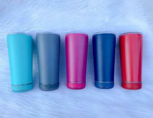 Copa de altavoz de altavoz de Bluetooth creativo de 18 oz Tazas de música de acero inoxidable impermeable con altavoces Tanto inalámbrico portátil Regalos de Año Nuevo