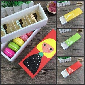 Cupcake Chriatmas Hollow Macaron Contenedores de Papel Navidad Cajas de Pastel de Papel Valentine Paquete de Chocolate Paquete de vacaciones Paquete Bizcocho Box