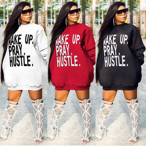 Letter Print Women Hoodies Casual Long Sleeve Solid Color Hooded Sweatshirt Pullover Tops New Casual Women Clothes 4267