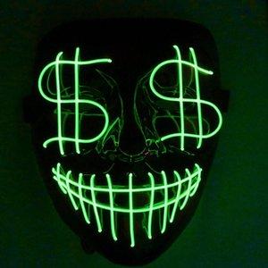 Cgjxs Cadılar Bayramı El Kulübü Led Kanlı Maske Işık Grimace Gece Noel Kapak Parti Tam Bar Dj Doları Hattı Işık Cgjxs Jrvl Maskesi Öncü
