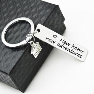 새로운 집에 새로운 모험의 새로운 가정 주택 및 부동산 회사 선물 열쇠 고리