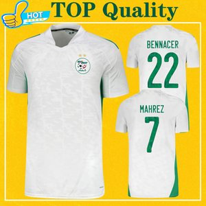 Maillot Algerie 2020 2021 Футбол Джерси Дом домой Махрес Bounedjah Feghouli Bennacer Atal 20 21 Algeria Maillot de Foot
