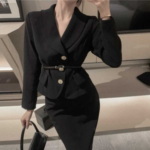 GOOHOJIO 2020 New Autumn Bla Blazer for Women Office Lady Work Blazer Ladies Temperament Jaets Ladies Formal Suit Jaets
