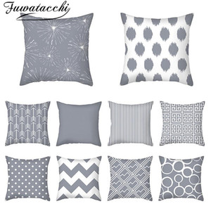 Fuwatacchi Geometric Pillow Case Stripped Pattern Printed Cushion Cover New for Home Car Chair Sofa Decorative Throw Pillowcases