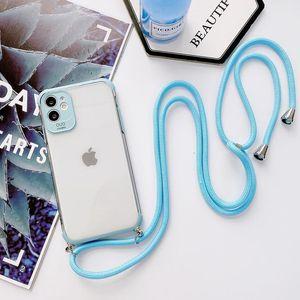 Anti-Drop Candy Coldy Coldy Lanyard Téléphone pour Samsung Galaxy Note 20 S20 Ultra Plus A10 M10 A20E A50 A51 A71 QYLKFF