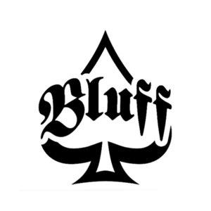 1 * 12.7cm Drôle Bluff Spades Cartes de poker Vinyle autocollant de voiture noir / argent C12-1290