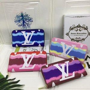 Nuovo Portafoglio classico multicolore carta di credito del supporto di carta regalo delle donne degli uomini della lettera portafoglio pacchettoLouisprogettistavuittonModa