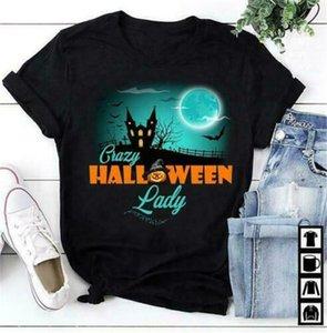 Crazy Halloween Lady Ladies Algodón S 3XL CLÁSICO DISEÑO CUSTOM DESIGN Sudadera con capucha Camisetas Sudadera