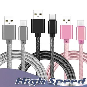 High Quality speed Phone Cable Micro USB Charger Cable Type C Cable 1M 3Ft 6FT 10FT For Android Samsung NOTE 10 S10 S9 S8 S7 Universal