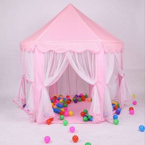 US Stock Princess Castle Play House Large Outdoor Kids Play Tent for Girls Pink Fast Shipping