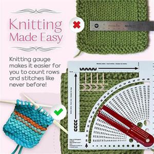 Knitting calibre Converter Knit Contador Weaving Régua Densidade Régua por Knitting Works Crafts Sweater Knitting Ferramentas Partido IIA710 Favor