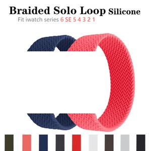 Braccialetto in silicone intrecciato in silicone con cinturino in silicone in silicone per Iwatch Apple Watch Serie 6 SE 5 4 3 38 40 42 44mm