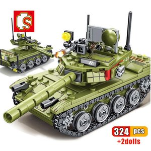 Sembo 324pcs Military Main Battle Tank Building Blocks Compatible Army Soldier Weapon Bricks Educational Toys For Children Gift sqckSG