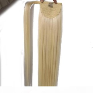 100% Human Remy hair Ponytail Horsetail Clips in on Hair Extension Straight Hair 100g one piece, free DHL