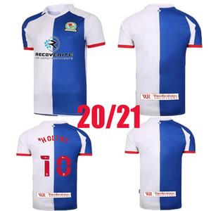 2020 2021 Blackburn Rovers Soccer Trikots Männer Armstong Brereton Holtby Dack Gallagher Lenihan Johnson Custom 20 21 Home Football Hemden