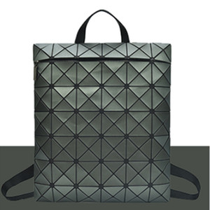 Wholesale-Bag Fashion bao Bag Trend Frosted Sequins PVC Geometric Square Rhombic Backpack