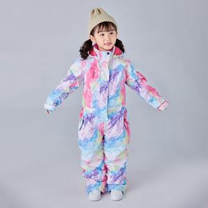 Suit Xuefeike Children's Siamese Girls Boys Pants Waterproof and Windproof Outdoor Ski Equipment