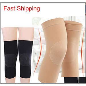 Women Breathable Knee Protector Thin Motion Knitting Knee Pads Joint Leg Sheath Warm Summer Running Sports Knee Support Zza975 Yn52L