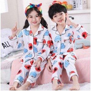 Девочки Пижамы Костюм Детская одежда Set 2020 Довольно Spring Детский Cothing Дети Пижамы Комплекты Cartoon Кардиган хлопка Pijama DTHG #