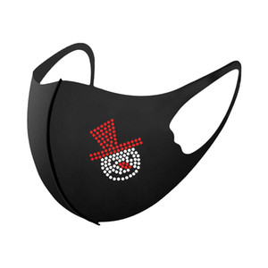 new Fabric 1PC Adult Facial Christmas Face Washable Mask For Protection Reusable Santa Earloop Mouth Caps