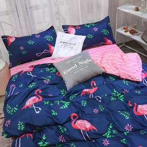 New aloe cotton four matted student 4 three piece bed sheet quilt set of home textile bedding