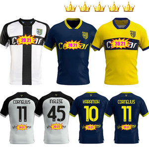 2020 2021 Parma Calcio soccer jersey home away third Darmian Gervinho Inglese Kucka 20 21 Karamoh Cornelius jerseys uniforms Football shirts