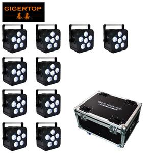 10in1 Charging Flightcase batterie sans fil Powered DMX512 LED Light Par la tyanshine Freedom Slim