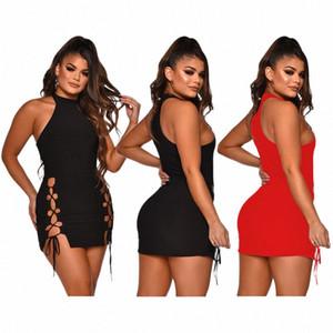 Vestidos de diseñador para mujer de moda para el verano nueva llegada ahueca hacia fuera los vestidos de color sólido atractivo de las mujeres de los vestidos ocasionales del tamaño S XL suéter Dres N7y2 #