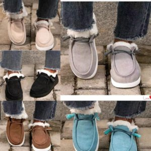 Qlirf cotton slippers shoes wear men women snow boots warm casual indoor pajamas party boot non-slip cotton drag large size women's cotton