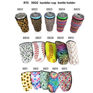 15 Styles Sacs à goupilles de 30 oz Sacs de couverture Néoprène Sac à manches isolées en néoprène Tasses à café Couvre-bouteille d'eau W-00415