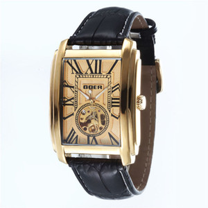 Hollow T-Goer Loisirs Square Square Automatique Homme Mechanical Watch