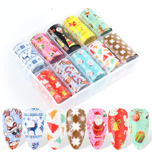 Christmas Nail Foil Stickers 100*4cm Colorful Snowflake Starry Paper Design Transfer Manicure Decals Nail Art Supplies CHB9003