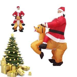 Рождественские реквизиты талисман костюм кукла одежда оленей надувной до надувной езды над оленями платье надувной надувной Claus Santa мультфильм взрослый DFFBH