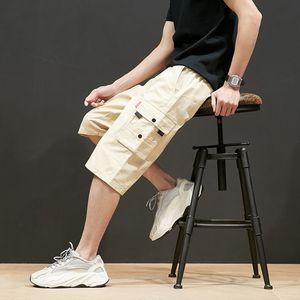 Men's cargo shorts summer 2020 new fashion high quality elastic shorts monochrome men's brand advertising Work Pants Large