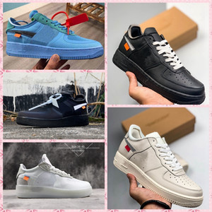 Venta al por mayor 10x para AF1 07 Low Off Airs Cushion One Running Shoes for Men The Pure White Sports Trainer Women Designer Shoes US-11